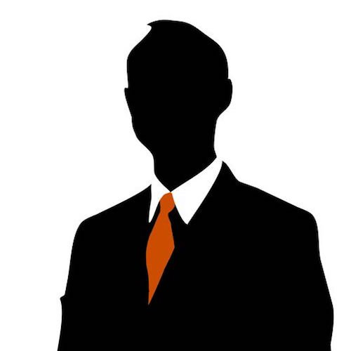 Male Silhouette Red Tie