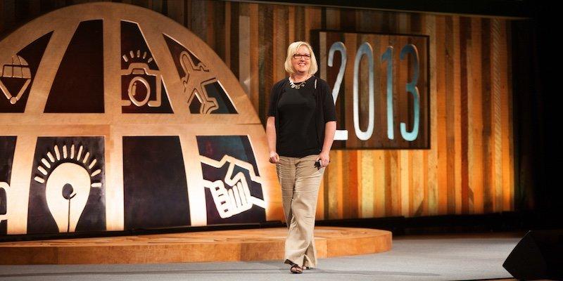 Tess Vigeland on stage at World Domination Summit 2013