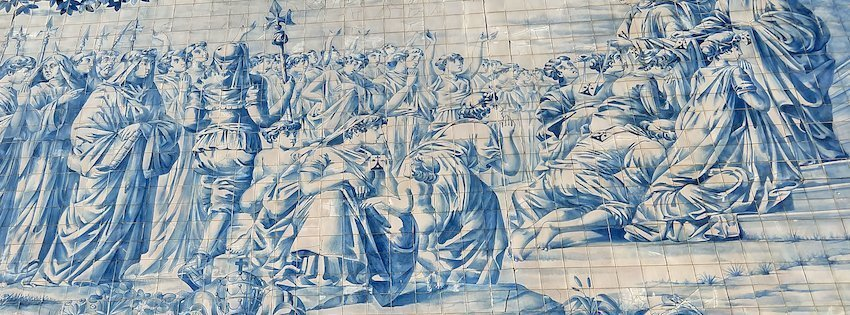 Azulejos Tile Mural on The Carmo Church Porto
