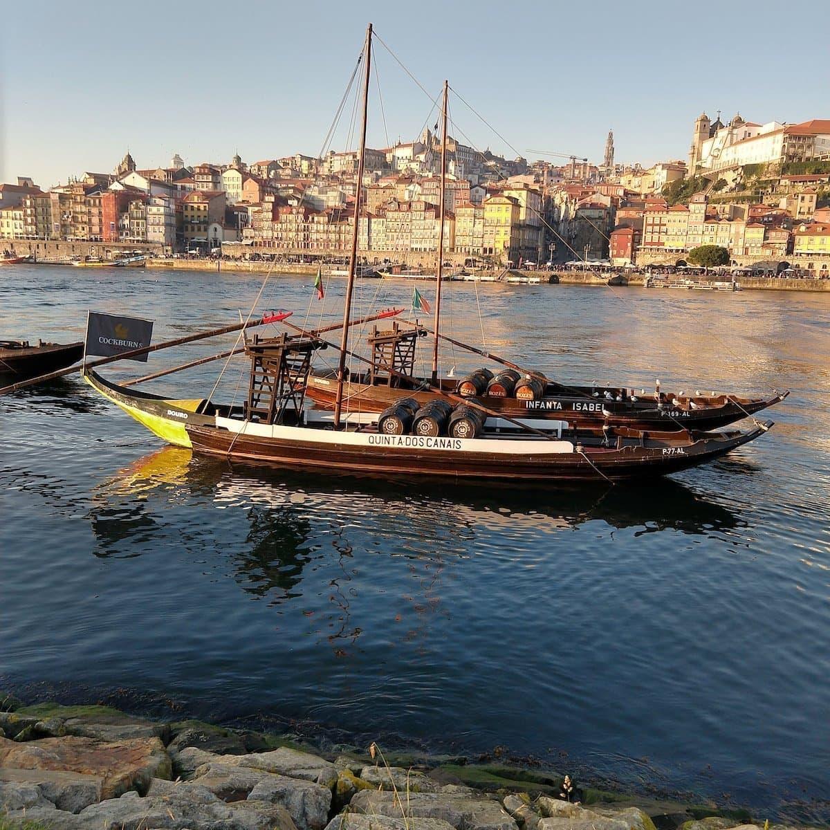 Port Wine Shipping Boat in Porto, Portugal 2019