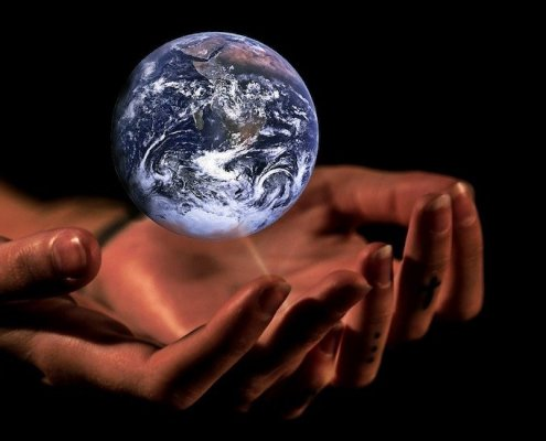 Hands Earth Climate Change Protection