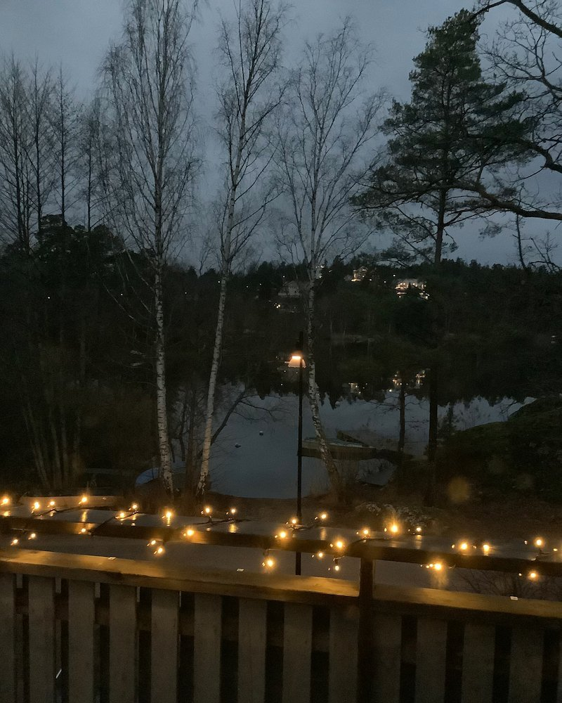 Morning View Outside Stockholm December 2020